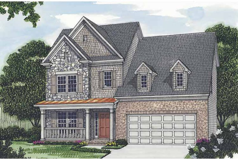 Traditional Exterior - Front Elevation Plan #453-504 - Houseplans.com