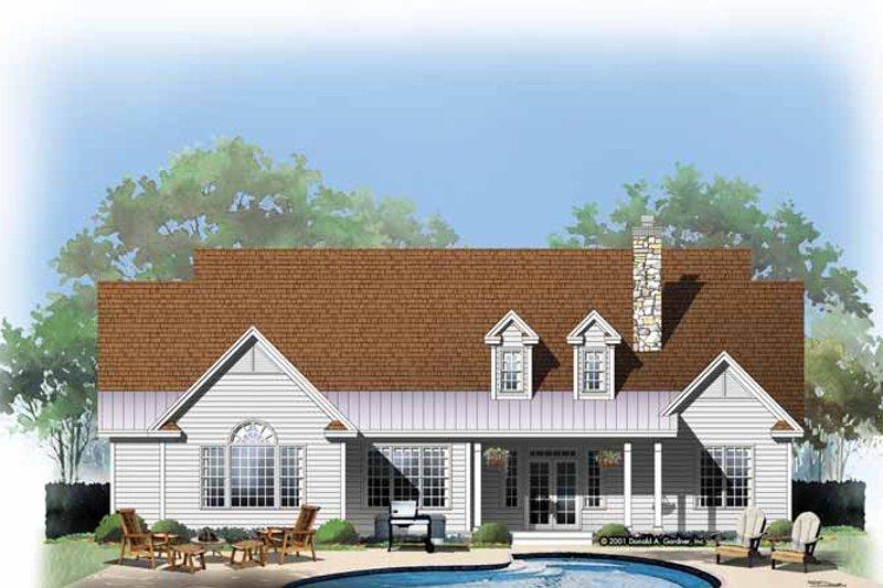 Country Exterior - Rear Elevation Plan #929-618 - Houseplans.com
