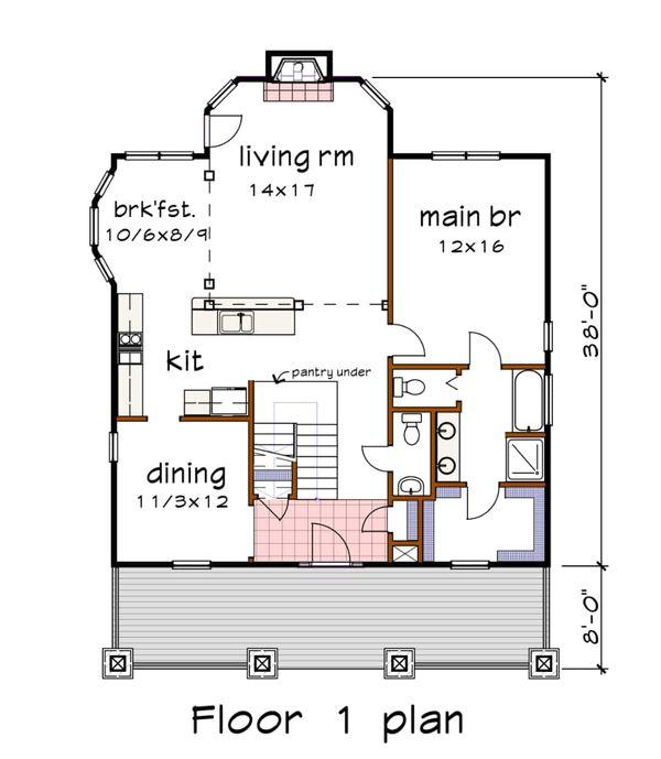 Home Plan - Craftsman Floor Plan - Main Floor Plan #79-264