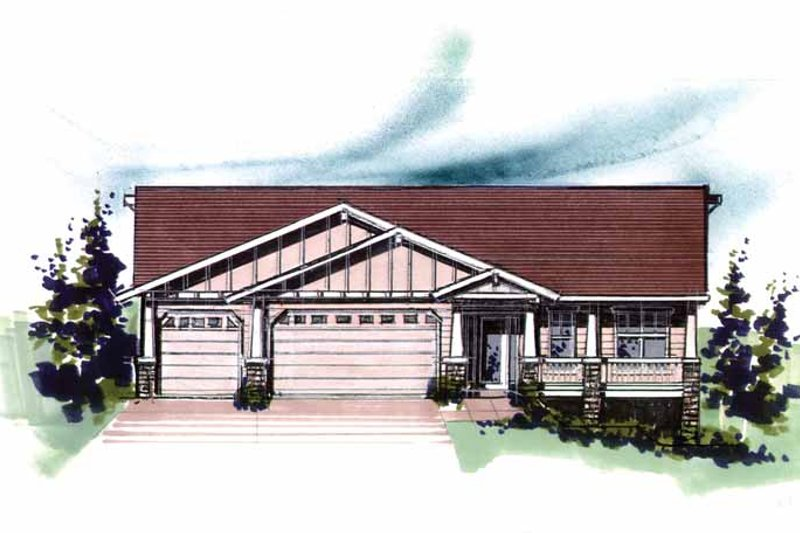 Craftsman Exterior - Front Elevation Plan #509-294 - Houseplans.com