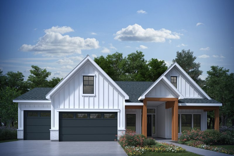 House Plan Design - Farmhouse Exterior - Front Elevation Plan #1073-29