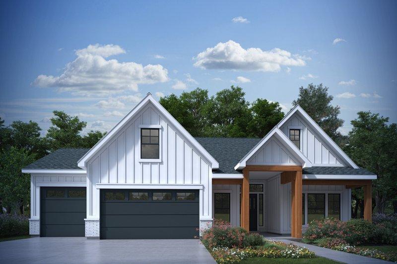 Architectural House Design - Farmhouse Exterior - Front Elevation Plan #1073-29