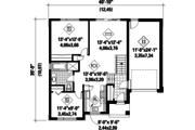 Contemporary Style House Plan - 2 Beds 1 Baths 953 Sq/Ft Plan #25-4404 Floor Plan - Main Floor Plan