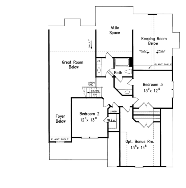 Country Floor Plan - Upper Floor Plan Plan #927-959