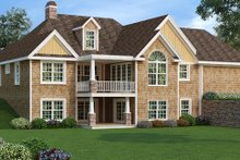 Dream House Plan - Craftsman Exterior - Rear Elevation Plan #456-36