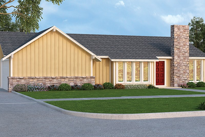 Architectural House Design - Ranch Exterior - Front Elevation Plan #45-535