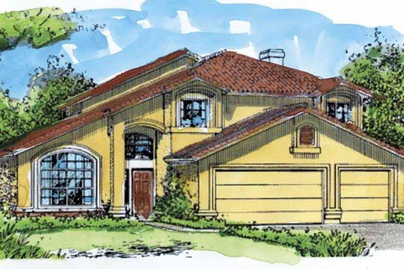 Mediterranean Exterior - Front Elevation Plan #320-976 - Houseplans.com