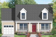 Country Exterior - Front Elevation Plan #1053-5
