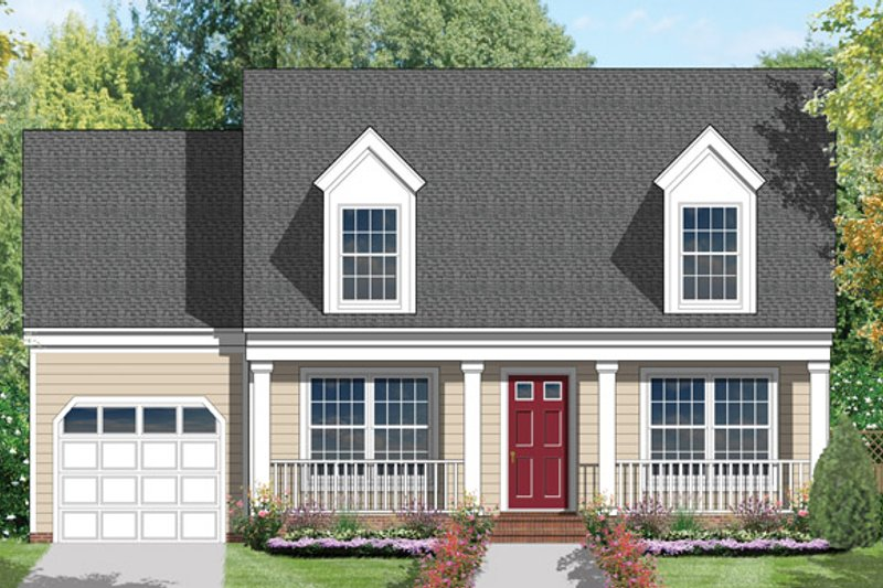 Country Exterior - Front Elevation Plan #1053-5 - Houseplans.com