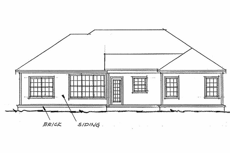 Traditional Exterior - Rear Elevation Plan #20-371 - Houseplans.com