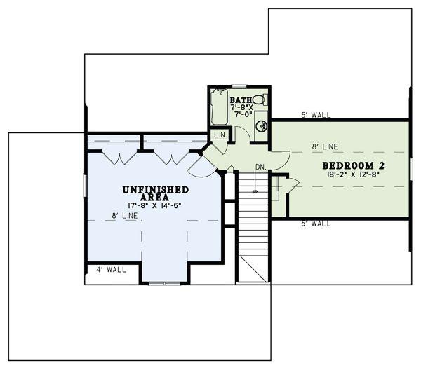 Craftsman Floor Plan - Upper Floor Plan #17-3427