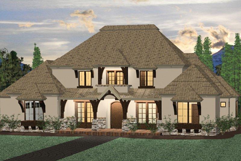 Architectural House Design - Prairie Exterior - Front Elevation Plan #937-31