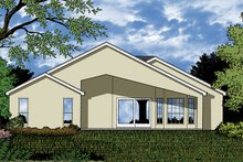 Dream House Plan - Mediterranean Exterior - Rear Elevation Plan #417-851