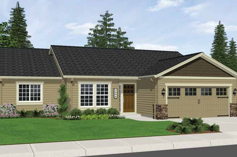 Ranch Style House Plan - 3 Beds 2 Baths 1446 Sq/Ft Plan #943-10