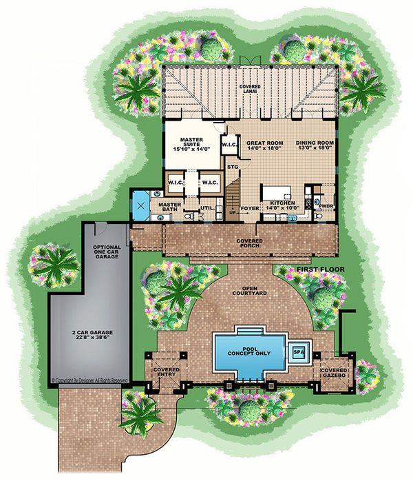 House Plan Design - European Floor Plan - Main Floor Plan #1017-167