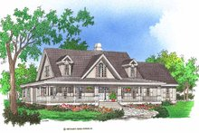 Country Exterior - Front Elevation Plan #929-367