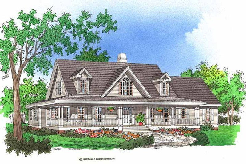 Dream House Plan - Country Exterior - Front Elevation Plan #929-367