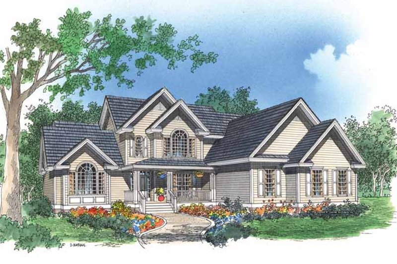 Dream House Plan - Traditional Exterior - Front Elevation Plan #929-258