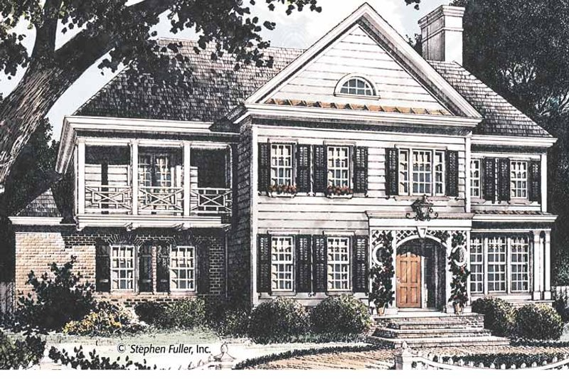 Country Exterior - Front Elevation Plan #429-362 - Houseplans.com