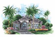 House Plan Design - Mediterranean Exterior - Front Elevation Plan #1017-117