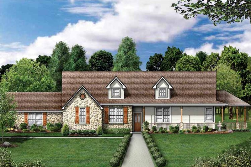 Country Exterior - Front Elevation Plan #84-698