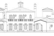 Mediterranean Style House Plan - 5 Beds 6 Baths 6302 Sq/Ft Plan #1058-25 Exterior - Rear Elevation