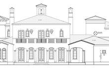 Architectural House Design - Mediterranean Exterior - Rear Elevation Plan #1058-25