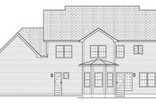 Colonial Exterior - Rear Elevation Plan #1010-170