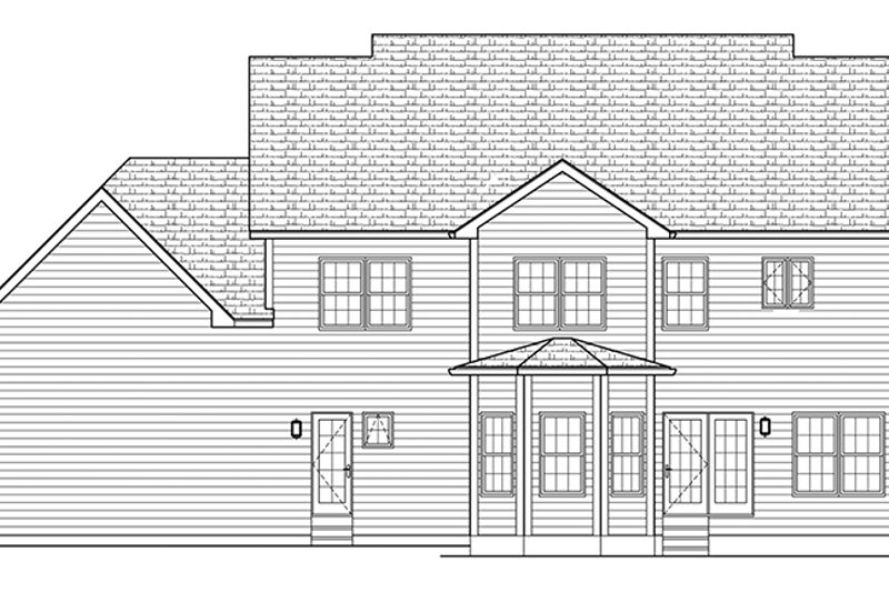 Colonial Exterior - Rear Elevation Plan #1010-170 - Houseplans.com