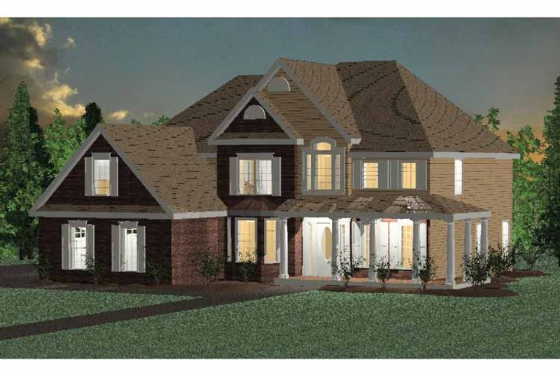 Dream House Plan - Traditional Exterior - Front Elevation Plan #937-22