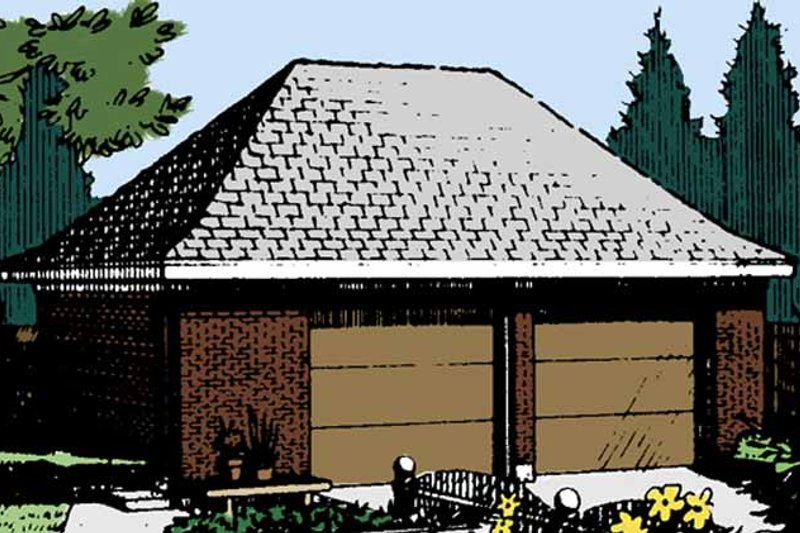 Exterior - Front Elevation Plan #410-3609