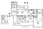 Country Style House Plan - 4 Beds 2.5 Baths 2984 Sq/Ft Plan #11-230 Floor Plan - Main Floor Plan