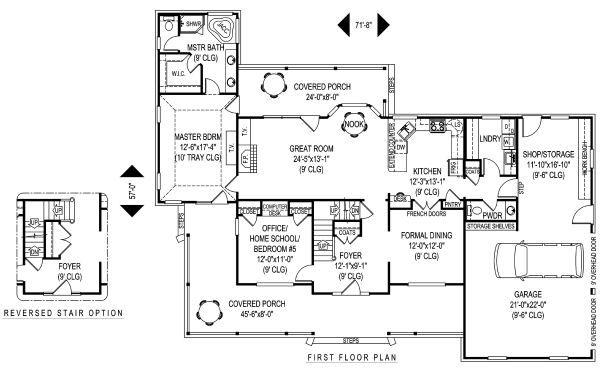 Country Floor Plan - Main Floor Plan Plan #11-230