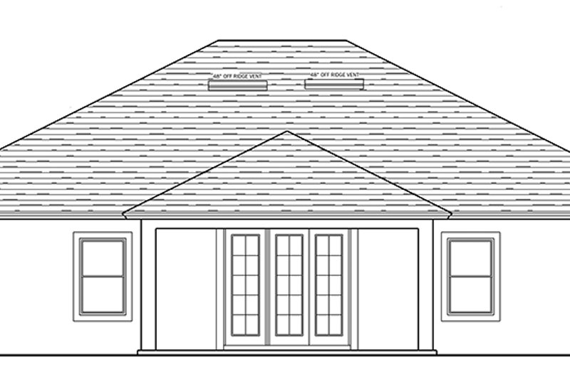 Traditional Exterior - Rear Elevation Plan #1058-119 - Houseplans.com