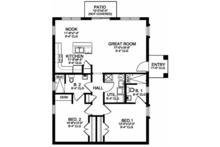 Mediterranean Floor Plan - Main Floor Plan Plan #1058-115