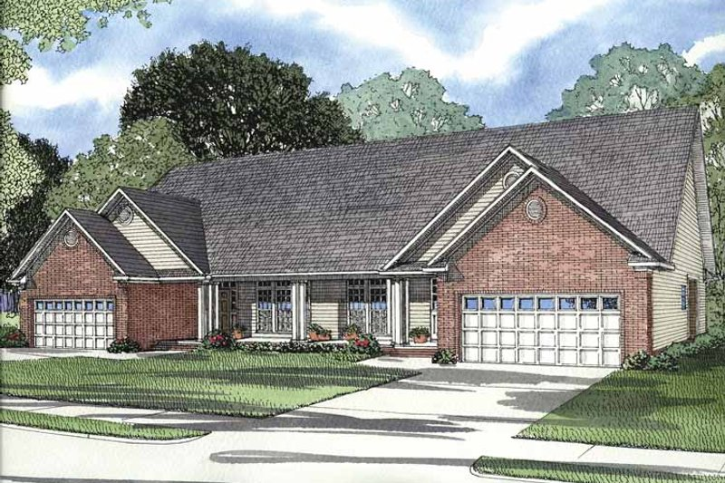 Traditional Exterior - Front Elevation Plan #17-2694 - Houseplans.com