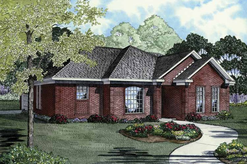 Ranch Exterior - Front Elevation Plan #17-3258