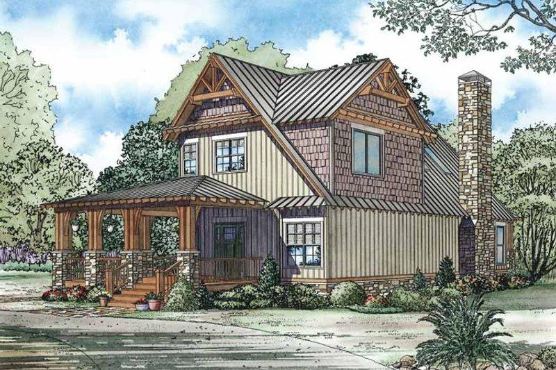 Craftsman Exterior - Front Elevation Plan #17-3336 - Houseplans.com