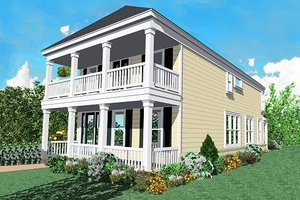 Beach Exterior - Front Elevation Plan #81-122