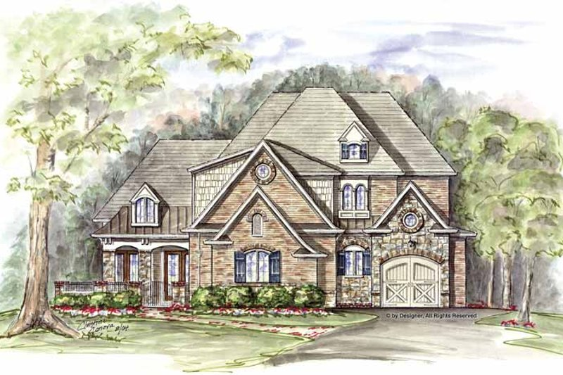 Traditional Exterior - Front Elevation Plan #54-317 - Houseplans.com