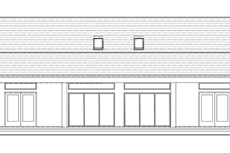Colonial Exterior - Rear Elevation Plan #1058-148 - Houseplans.com