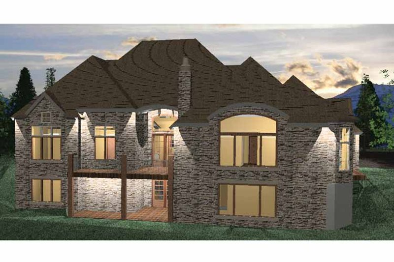 Country Exterior - Rear Elevation Plan #937-8 - Houseplans.com