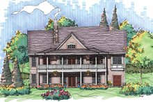 Country Exterior - Rear Elevation Plan #929-563