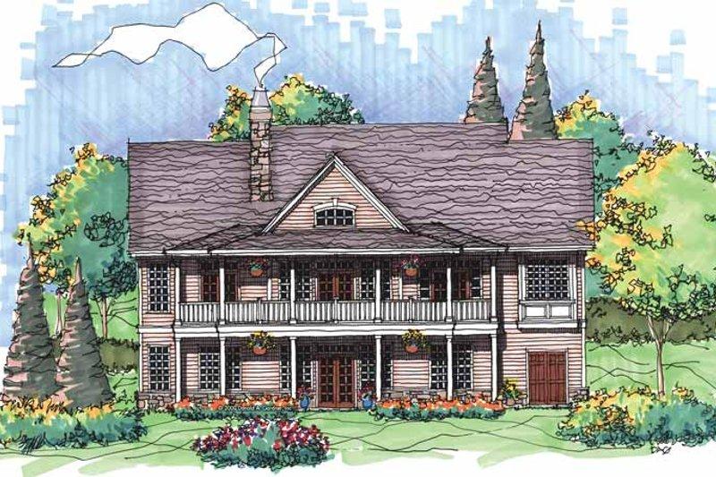 Country Exterior - Rear Elevation Plan #929-563 - Houseplans.com