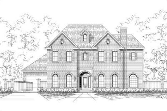 Traditional Exterior - Front Elevation Plan #411-250