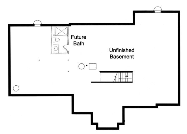 Traditional Floor Plan - Lower Floor Plan Plan #46-850