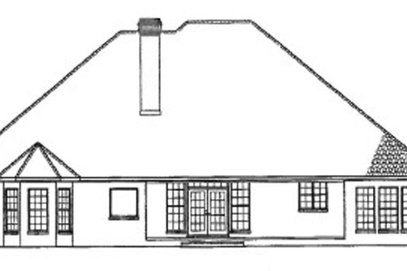 Country Exterior - Rear Elevation Plan #17-2681 - Houseplans.com