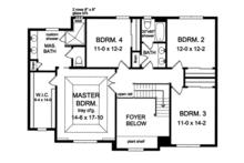 Colonial Floor Plan - Upper Floor Plan Plan #1010-165