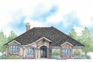 Country Exterior - Front Elevation Plan #938-47