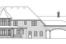 European Exterior - Rear Elevation Plan #119-432
